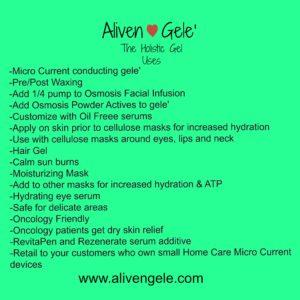 Aliven Gele' Uses
